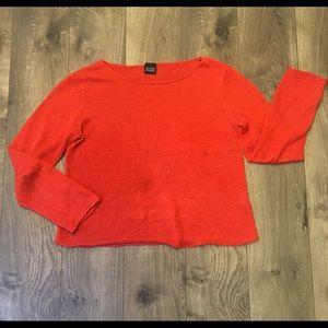 Gorgeous Eileen Fisher Box Top Sweater 100% Linen